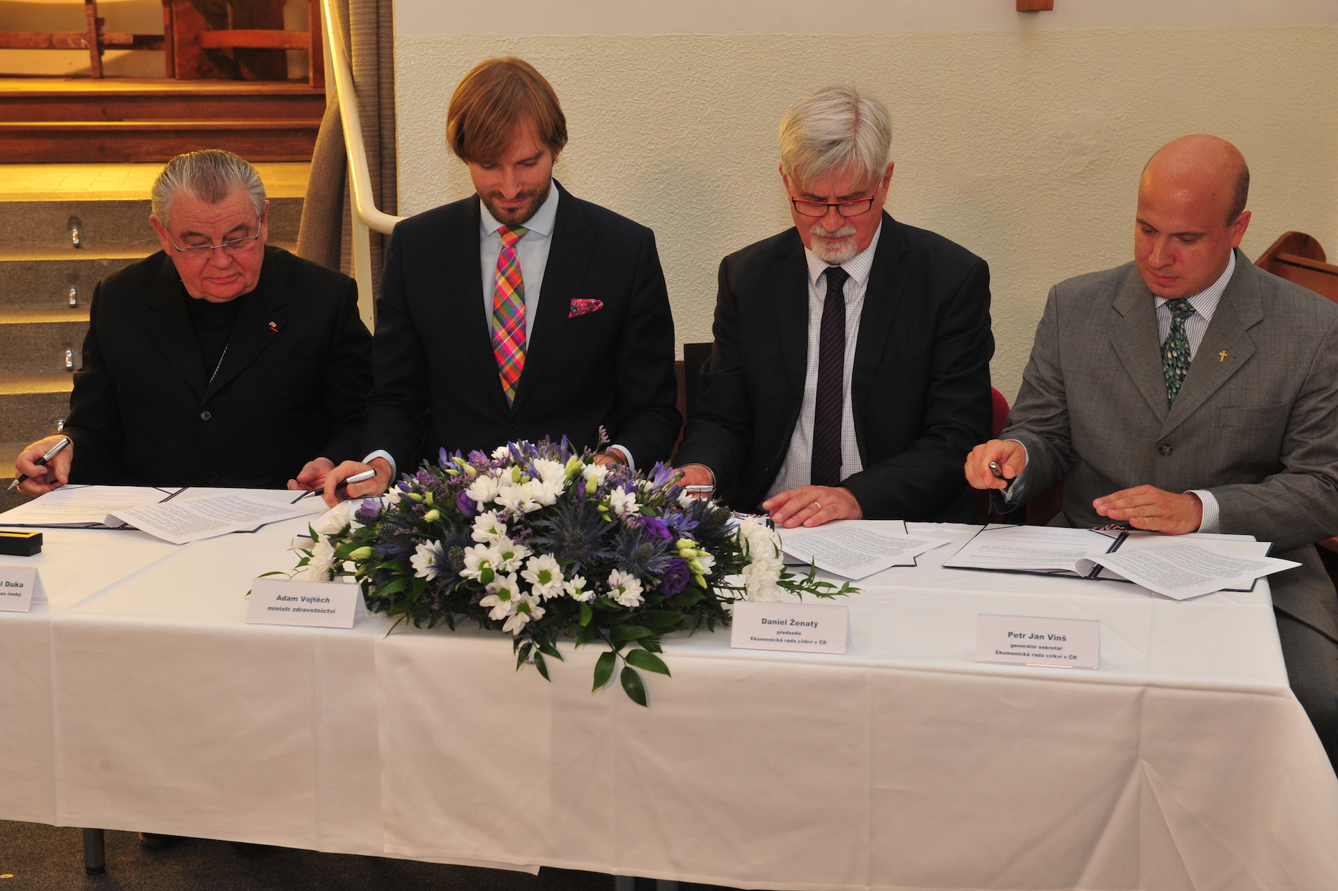 Podpis dohody o Duchovní péči