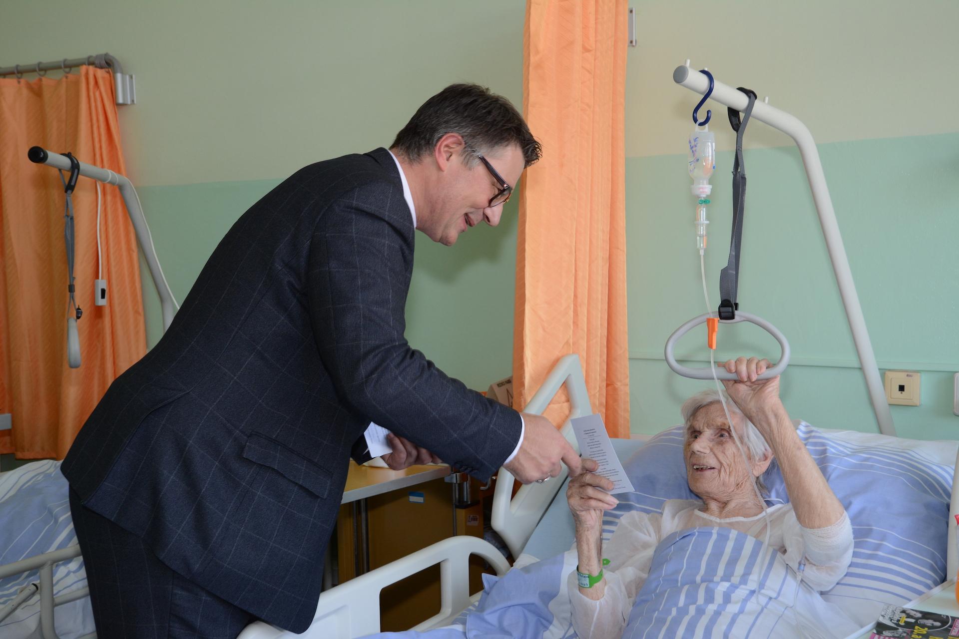 Návštěva pacientů na oddělení